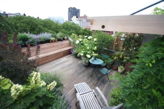 Picture of rooftop terrace design ideas for Indian terrace garden designs