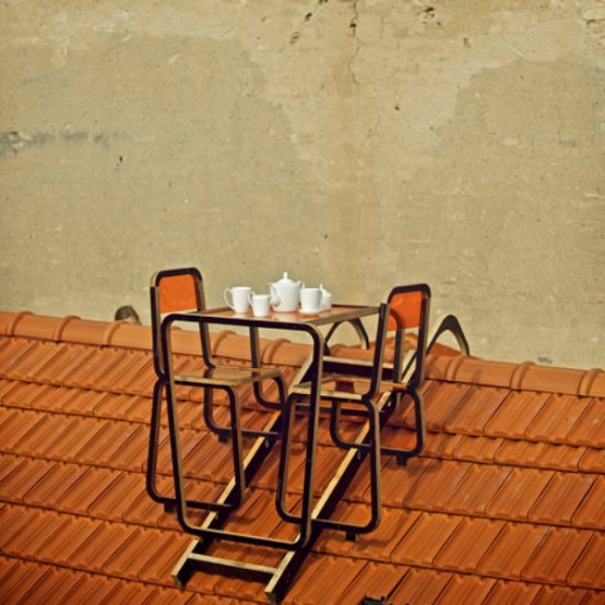 Rooftop Transparent Furniture For Extreme Lovers