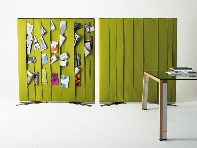 Practical Room Divider With Storage for Magazines or Photos