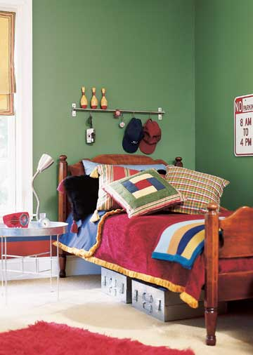 Rugby Styled Boys Bedroom