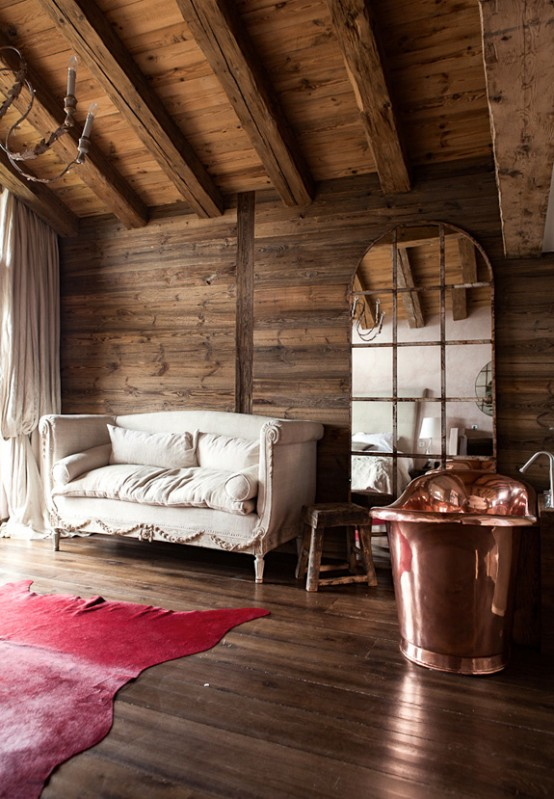 Rustic And Mid Century Chalet Vieux Valet Verbier Digsdigs