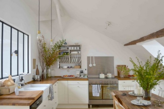 Rustic And Vintage Kitchen Design Filled With Natural