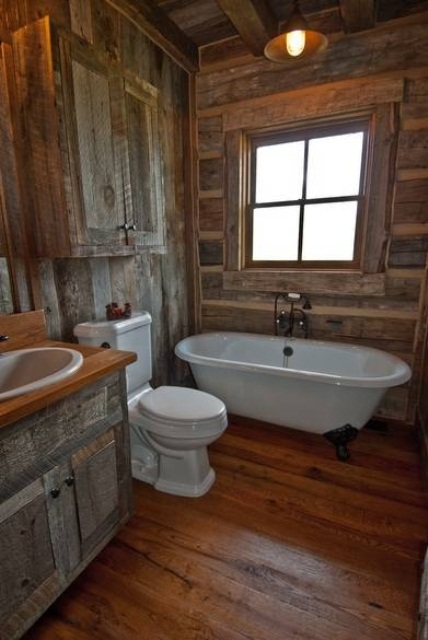 Kitchen Room Interior Design: 44 Rustic Barn Bathroom Design Ideas