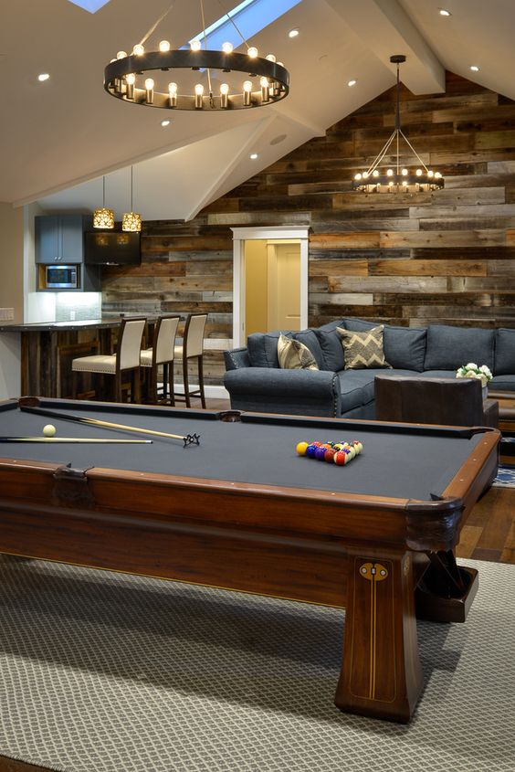 rustic style is perfect for a basement decor