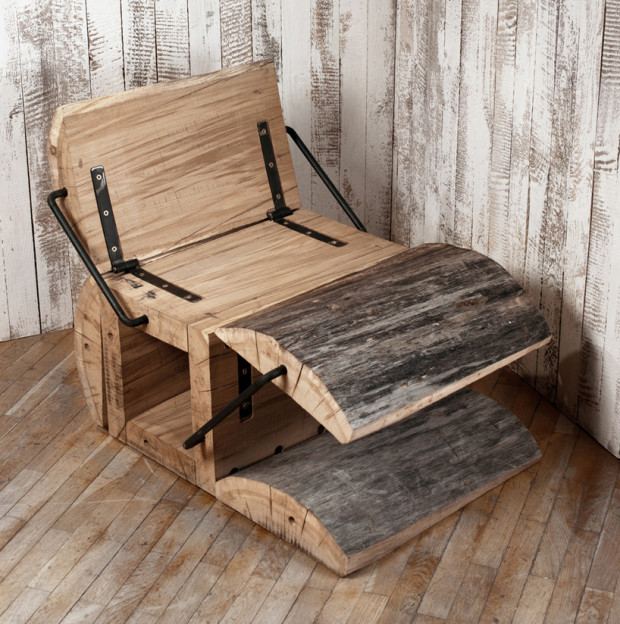 rustic eco friendly chair of an oak log digsdigs