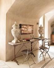 Rustic Interior Of Renovated Farmhouse