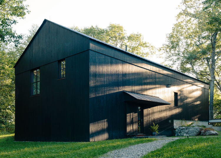 Picture Of rustic passive house barn and sauna compound  10