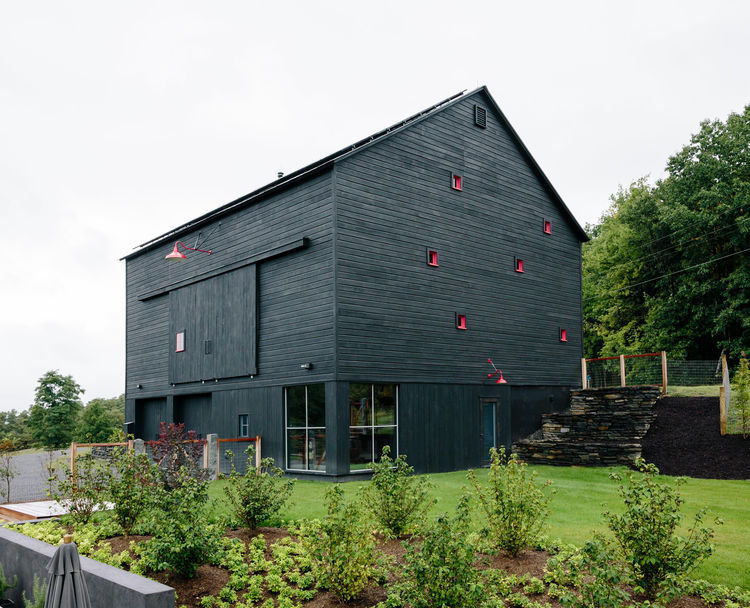 Picture Of rustic passive house barn and sauna compound  6