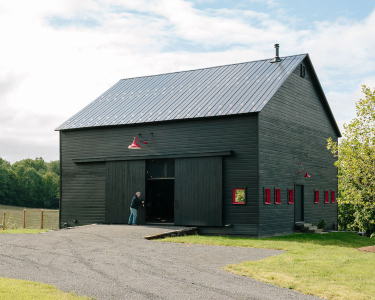 Picture Of rustic passive house barn and sauna compound  9