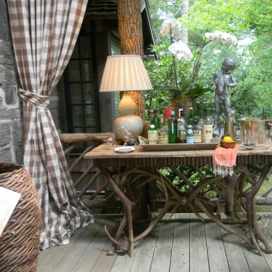 Rustic Porch Design With Hunter's Retreat Touches