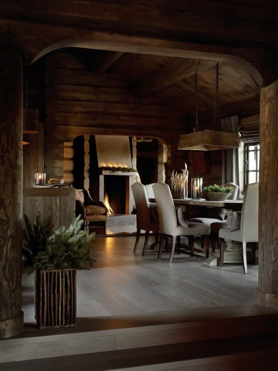 Rustic Rough Wood House With Vintage Touches