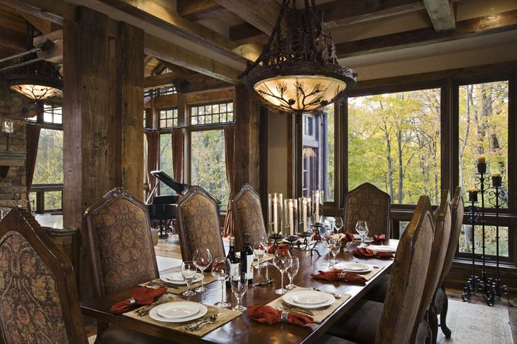 Rustic House Design in Western Style - Ontario Residence ... on Traditional Rustic Decor  id=31844