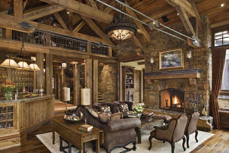 Rustic house design in western style ontario residence for Rustic style house plans