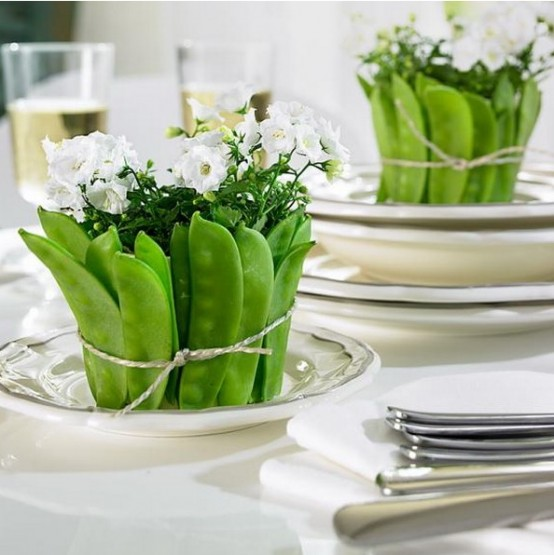 34 Rustic Veggies And Herbs Tablescape Ideas