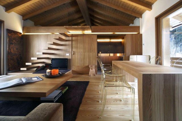 Rustic Wooden Apartment With Two Levels