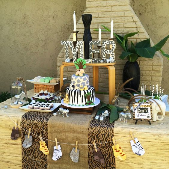 safari-themed modern baby shower