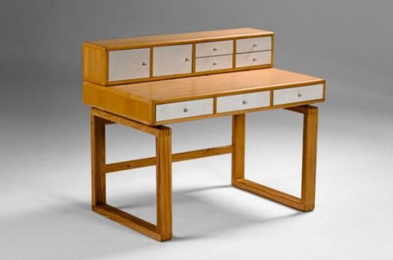 Saska Desk Inspired By Mid-Century Scandinavian Designs