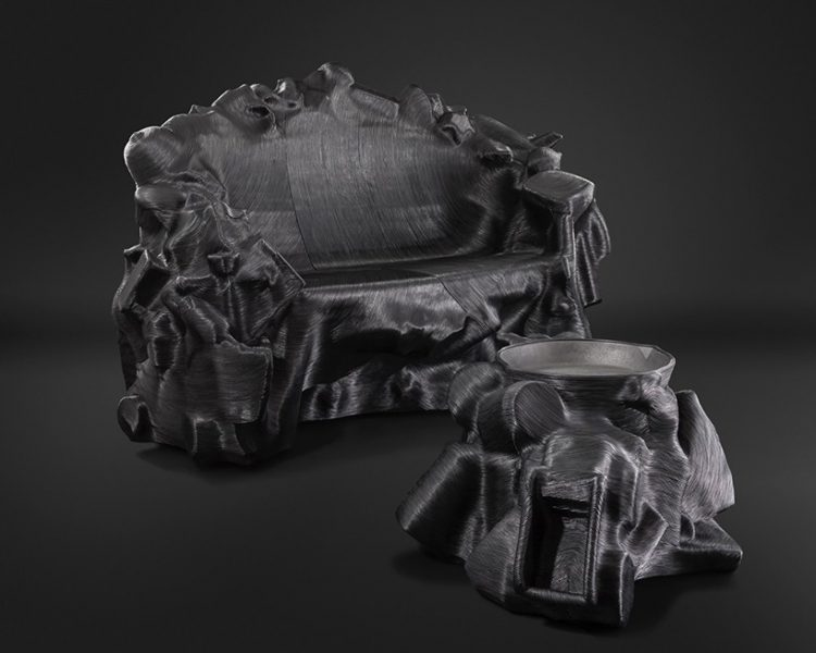 Savage Furniture Series Wrapped With Cowhide Leather Threads