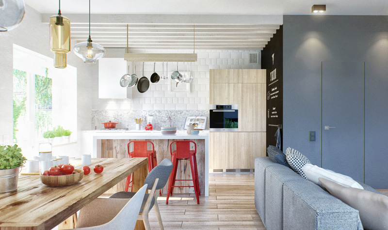 Scandinavian Apartment With Eco-Friendly And Industrial Elements