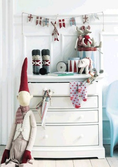 sweet red and neutral toys will make your kids' rooms feel like Nordic Christmas
