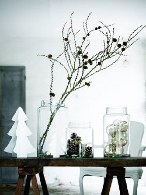 76 inspiring scandinavian christmas decorating ideas for Modern minimalist christmas decorating