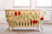 Scandinavian Furniture With Giant Colorful Cross Stitches