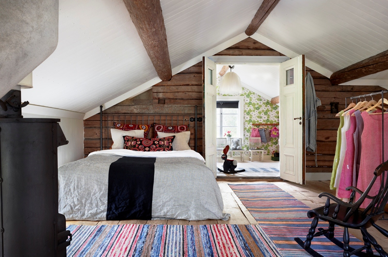 Scandinavian house in industrial and rustic style digsdigs Industrial scandinavian bedroom