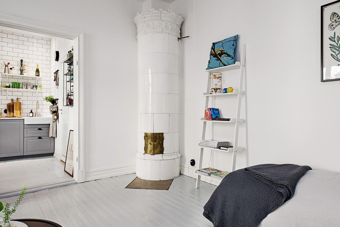 terrific scandinavian one room studio apartment in gothenburg digsdigs   Scandinavian One-Room Studio Apartment In Gothenburg ...