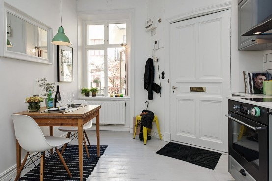 One Room Studio Design scandinavian one-room studio apartment in gothenburg - digsdigs
