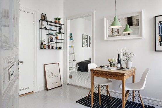 Scandinavian One-Room Studio Apartment In Gothenburg - DigsDigs