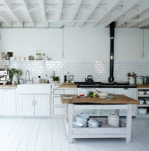 33 rustic scandinavian kitchen designs digsdigs for Rustic chic kitchen ideas