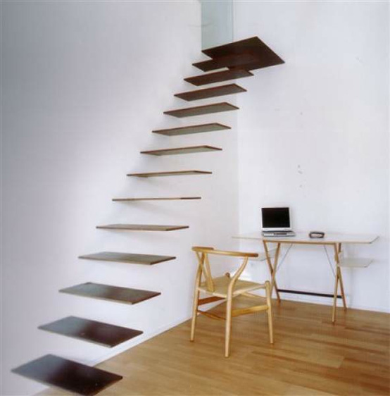 Sculptrual Steel Floating Staircase