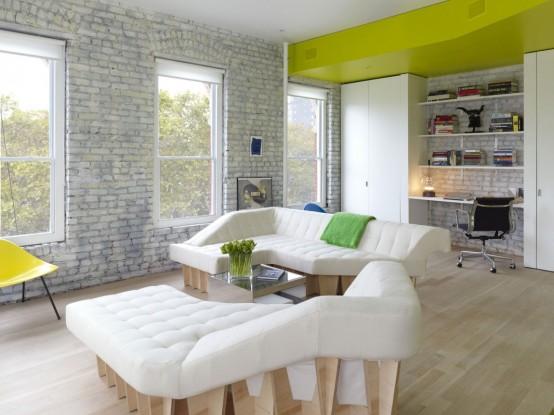 Sculptural And Bright Loft Renovation Mixes Past And Present