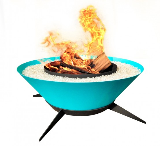Sculptural Astrofire Outdoor Fire Bowl