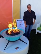 Sculptural Atstrofire Outdoor Fire Bowl