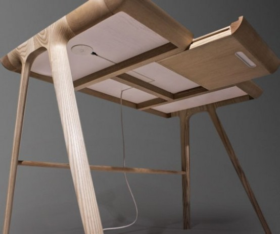 Sculptural Maya Desk With Secret Storage Units