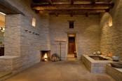 Sculptural Rough Stone Bathroom