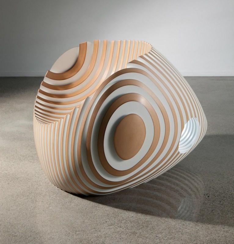 Scupltural Wooden Beehive Chair