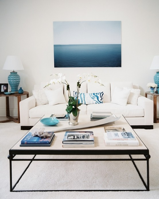 59 Sea And Beach Inspired Living Rooms - DigsDigs