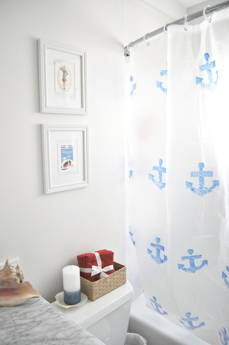 Curtain Decor Ideas For Living Room: 44 Sea-Inspired Bathroom Décor Ideas