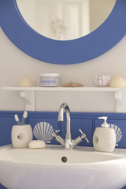 44 sea inspired bathroom d cor ideas digsdigs for Bathroom ideas nautical