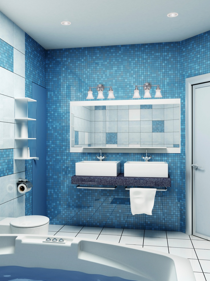 44 sea inspired bathroom d cor ideas digsdigs for Bathroom wall designs