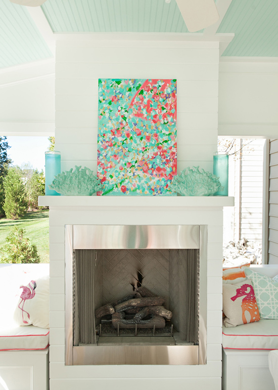 Sea Inspired Summer Terrace Decor In Coral And Aqua