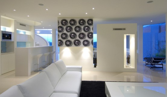 seafront house white interior