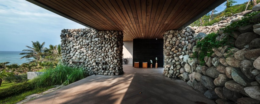Picture Of seaside taiwaneese home with loal organic elements  2
