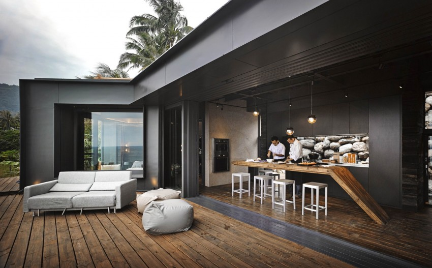 Picture Of seaside taiwaneese home with loal organic elements  4