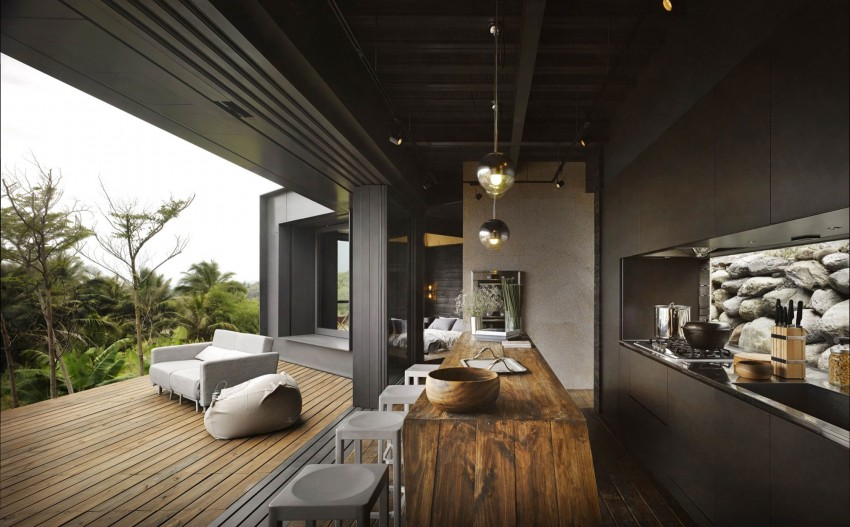 Picture Of seaside taiwaneese home with loal organic elements  6