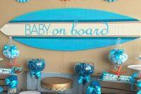 seaside themed boy baby shower