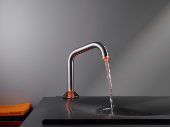 Semi Automatic Faucet With Led