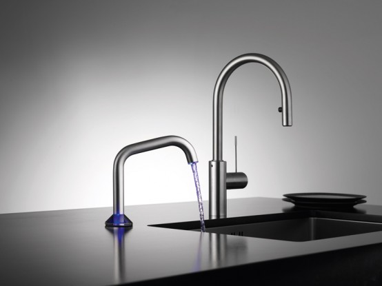 Modern Semi Automatic Faucet With Touch Sensor And Led